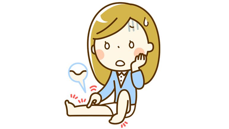 下肢静脈瘤で悩んでいる女性